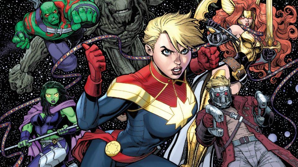 Капитан Марвел и стражи галактики